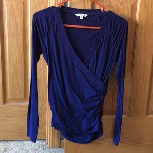 Cabi navy blue long sleeve top